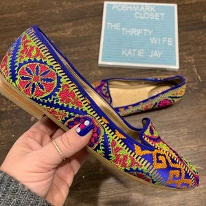 Me Too Multicolored Embroidered Flats Size 8
